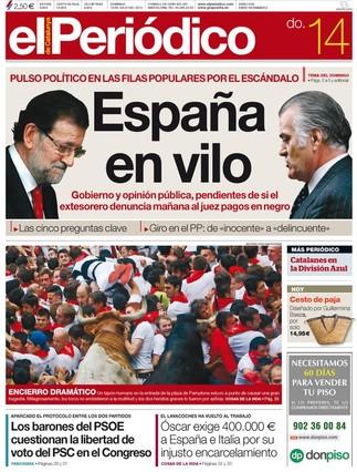 Portada de El Periódico de Cataluña
