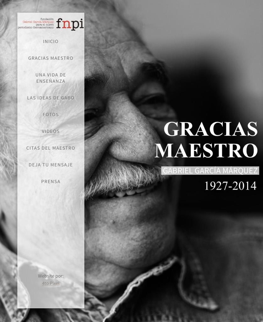 Así despide Jaime Abello Banfi, director de la Fundación Nuevo Periodismo Iberoamericano, a su impulsor, Gabriel García Márquez.