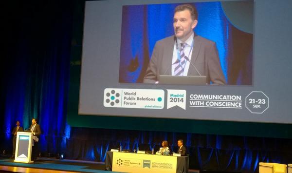 Probablemente el momento más emocionando de toda mi carrera profesional: la apertura del World Public Relations Forum, celebrado en Madrid del 21 al 23 de septiembre de 2014