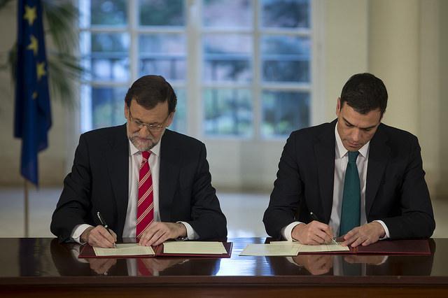Mariano Rajoy y Pedro Sánchez son los principales protagonistas del fin del bipartidismo.
