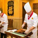 La comunicación y el corte del pato pekinés
