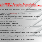 Twelve messages for COVID-19 responsible communication